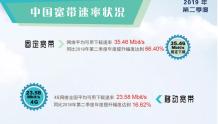 我国固定宽带平均下载速率已超35Mbit/s